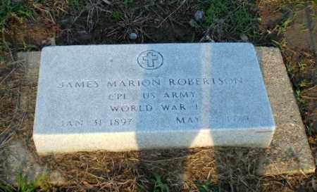 ROBERTSON  (VETERAN WWI), JAMES MARION - Clay County, Arkansas | JAMES MARION ROBERTSON  (VETERAN WWI) - Arkansas Gravestone Photos