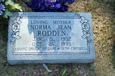 CANTWELL RODDEN, NORMA JEAN - Clay County, Arkansas | NORMA JEAN CANTWELL RODDEN - Arkansas Gravestone Photos