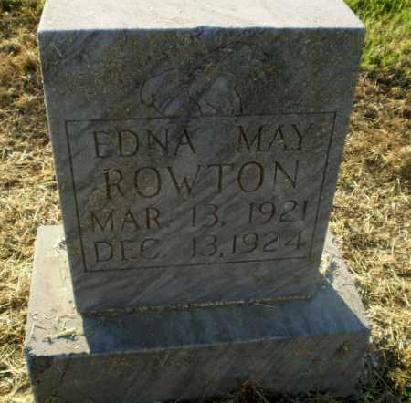 ROWTON, EDNA MAY - Clay County, Arkansas   EDNA MAY ROWTON - Arkansas Gravestone Photos