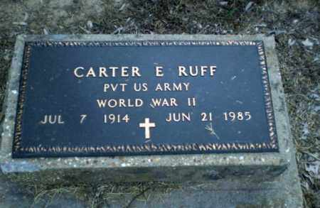 RUFF  (VETERAN WWII), CARTER E - Clay County, Arkansas | CARTER E RUFF  (VETERAN WWII) - Arkansas Gravestone Photos