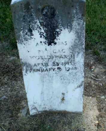 RUFF (VETERAN WWII), RANEY F - Clay County, Arkansas | RANEY F RUFF (VETERAN WWII) - Arkansas Gravestone Photos