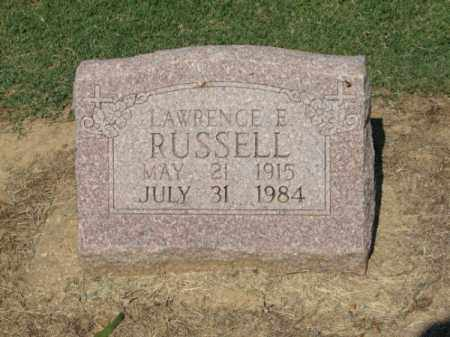 RUSSELL, LAWRENCE E. - Clay County, Arkansas | LAWRENCE E. RUSSELL - Arkansas Gravestone Photos