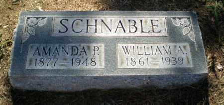 SCHNABLE, WILLIAM A - Clay County, Arkansas | WILLIAM A SCHNABLE - Arkansas Gravestone Photos
