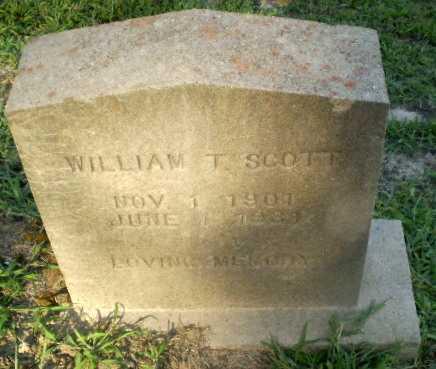 SCOTT, WILLIAM T - Clay County, Arkansas | WILLIAM T SCOTT - Arkansas Gravestone Photos