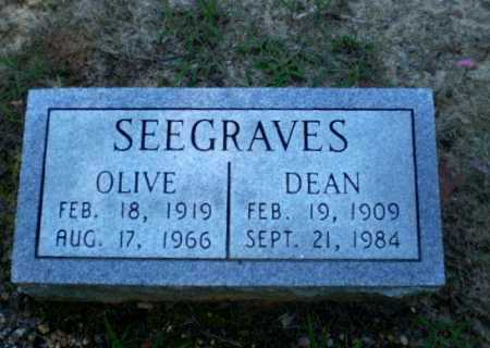 SEEGRAVES, OLIVE - Clay County, Arkansas | OLIVE SEEGRAVES - Arkansas Gravestone Photos