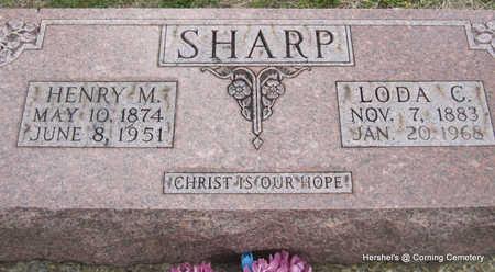SHARP, LODA C - Clay County, Arkansas | LODA C SHARP - Arkansas Gravestone Photos