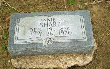 SHARP, JENNIE L - Clay County, Arkansas | JENNIE L SHARP - Arkansas Gravestone Photos