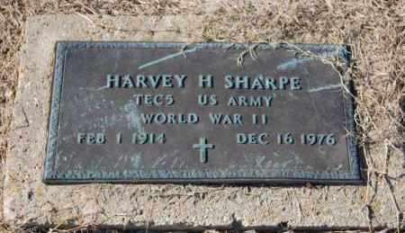 SHARPE (VETERAN WWII), HARVEY H - Clay County, Arkansas | HARVEY H SHARPE (VETERAN WWII) - Arkansas Gravestone Photos