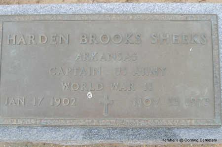SHEEKS (VETERAN WWII), HARDEN BROOKS - Clay County, Arkansas   HARDEN BROOKS SHEEKS (VETERAN WWII) - Arkansas Gravestone Photos