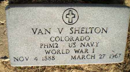 SHELTON (VETERAN WWI), VAN - Clay County, Arkansas   VAN SHELTON (VETERAN WWI) - Arkansas Gravestone Photos