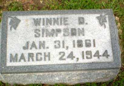 SIMPSON, WINNIE D - Clay County, Arkansas   WINNIE D SIMPSON - Arkansas Gravestone Photos
