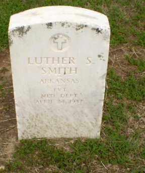 SMITH  (VETERAN), LUTHER S - Clay County, Arkansas   LUTHER S SMITH  (VETERAN) - Arkansas Gravestone Photos