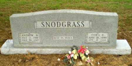SNODGRASS, ANDREW H. - Clay County, Arkansas | ANDREW H. SNODGRASS - Arkansas Gravestone Photos