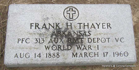 THAYER  (VETERAN WWI), FRANK H - Clay County, Arkansas | FRANK H THAYER  (VETERAN WWI) - Arkansas Gravestone Photos