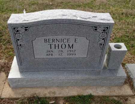 THOM, BERNICE E - Clay County, Arkansas | BERNICE E THOM - Arkansas Gravestone Photos