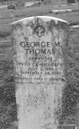 THOMAS  (VETERAN), GEORGE M - Clay County, Arkansas   GEORGE M THOMAS  (VETERAN) - Arkansas Gravestone Photos