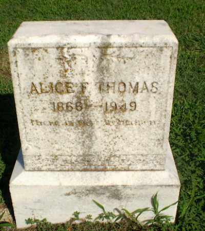 THOMAS, ALICE F - Clay County, Arkansas | ALICE F THOMAS - Arkansas Gravestone Photos