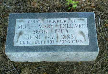 TOLLIVER, INFANT DAUGHTER - Clay County, Arkansas | INFANT DAUGHTER TOLLIVER - Arkansas Gravestone Photos