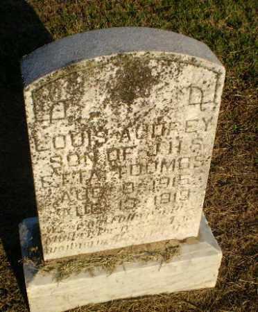 TOOMBS, LOUIS A COREY - Clay County, Arkansas | LOUIS A COREY TOOMBS - Arkansas Gravestone Photos