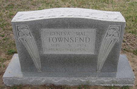 TOWNSEND, GENEVA MAE - Clay County, Arkansas | GENEVA MAE TOWNSEND - Arkansas Gravestone Photos