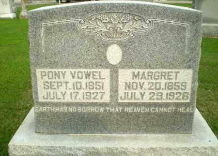 VOWEL, PONY - Clay County, Arkansas | PONY VOWEL - Arkansas Gravestone Photos