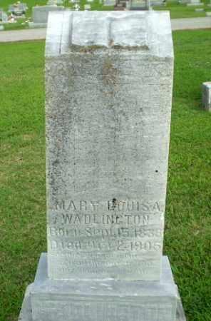 WADLINGTON, MARY LOUISA - Clay County, Arkansas | MARY LOUISA WADLINGTON - Arkansas Gravestone Photos
