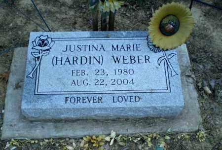 HARDIN WEBER, JUSTINA MARIE - Clay County, Arkansas | JUSTINA MARIE HARDIN WEBER - Arkansas Gravestone Photos