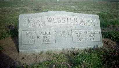 WEBSTER, MARY ALICE - Clay County, Arkansas | MARY ALICE WEBSTER - Arkansas Gravestone Photos