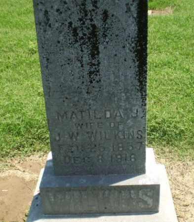 WILKINS, MATILDA J - Clay County, Arkansas | MATILDA J WILKINS - Arkansas Gravestone Photos