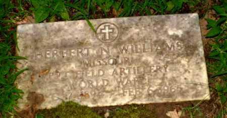 WILLIAMS (VETERAN WWI), HERBERT N - Clay County, Arkansas | HERBERT N WILLIAMS (VETERAN WWI) - Arkansas Gravestone Photos