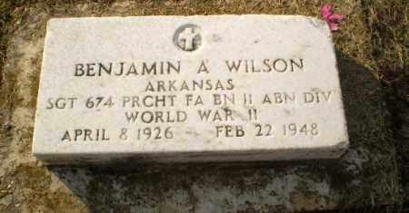 WILSON (VETERAN WWII), BENJAMIN A - Clay County, Arkansas | BENJAMIN A WILSON (VETERAN WWII) - Arkansas Gravestone Photos