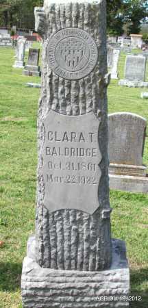BALDRIDGE, CLARA T - Cleburne County, Arkansas | CLARA T BALDRIDGE - Arkansas Gravestone Photos