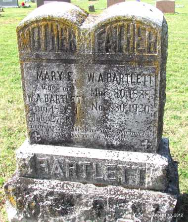 BARTLETT, W A - Cleburne County, Arkansas | W A BARTLETT - Arkansas Gravestone Photos