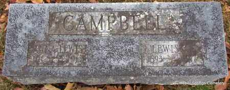 CAMPBELL, LEWIS - Cleburne County, Arkansas | LEWIS CAMPBELL - Arkansas Gravestone Photos