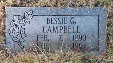 CAMPBELL, BESSIE G - Cleburne County, Arkansas | BESSIE G CAMPBELL - Arkansas Gravestone Photos