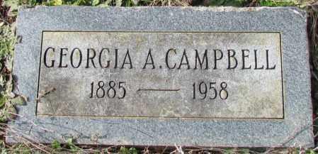 CAMPBELL, GEORGIA A - Cleburne County, Arkansas | GEORGIA A CAMPBELL - Arkansas Gravestone Photos