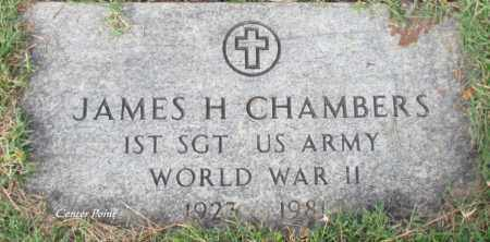 CHAMBERS (VETERAN WWII), JAMES H - Cleburne County, Arkansas | JAMES H CHAMBERS (VETERAN WWII) - Arkansas Gravestone Photos