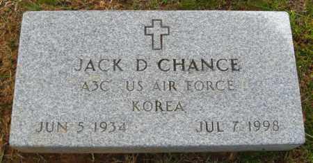 CHANCE (VETERAN KOR), JACK D. - Cleburne County, Arkansas | JACK D. CHANCE (VETERAN KOR) - Arkansas Gravestone Photos