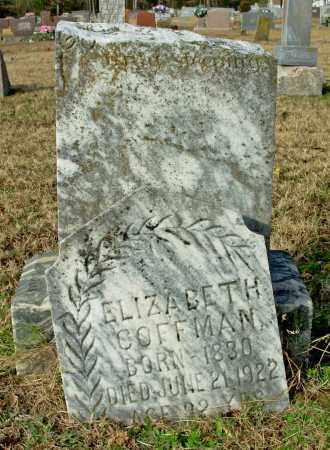 COFFMAN, ELIZABETH - Cleburne County, Arkansas   ELIZABETH COFFMAN - Arkansas Gravestone Photos