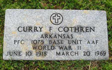 COTHREN  (VETERAN WWII), CURRY F. - Cleburne County, Arkansas | CURRY F. COTHREN  (VETERAN WWII) - Arkansas Gravestone Photos
