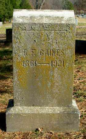 GAINES, R. F. - Cleburne County, Arkansas | R. F. GAINES - Arkansas Gravestone Photos