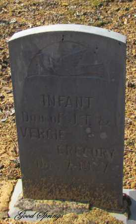 GREGORY, INFANT DAUGHTER - Cleburne County, Arkansas | INFANT DAUGHTER GREGORY - Arkansas Gravestone Photos