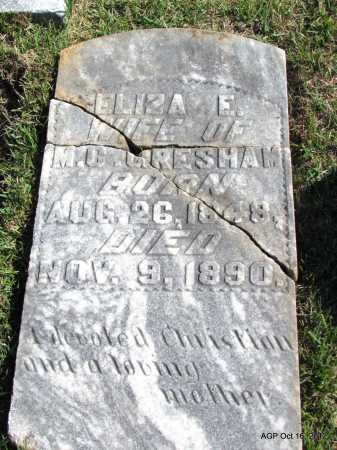 BLANKENSHIP GRESHAM, ELIZA EMILIE - Cleburne County, Arkansas | ELIZA EMILIE BLANKENSHIP GRESHAM - Arkansas Gravestone Photos