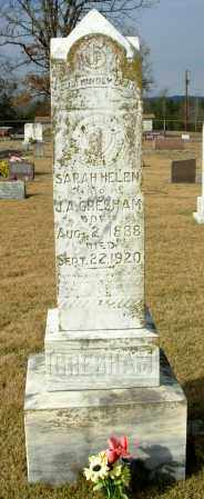 THOMPSON GRESHAM, SARAH HELEN - Cleburne County, Arkansas | SARAH HELEN THOMPSON GRESHAM - Arkansas Gravestone Photos