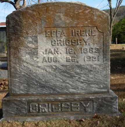 GRIGSBY, EFFA IRENE - Cleburne County, Arkansas | EFFA IRENE GRIGSBY - Arkansas Gravestone Photos