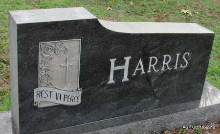 HARRIS, LORA (BACK OF STONE) - Cleburne County, Arkansas   LORA (BACK OF STONE) HARRIS - Arkansas Gravestone Photos