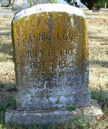 LOVE, FANNIE - Cleburne County, Arkansas | FANNIE LOVE - Arkansas Gravestone Photos