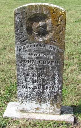 LOVEN, NARCISSA ANN - Cleburne County, Arkansas   NARCISSA ANN LOVEN - Arkansas Gravestone Photos