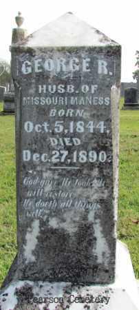 MANESS, GEORGE R - Cleburne County, Arkansas   GEORGE R MANESS - Arkansas Gravestone Photos