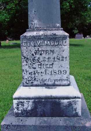 MOORE, GEO. W. - Cleburne County, Arkansas   GEO. W. MOORE - Arkansas Gravestone Photos